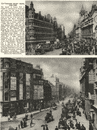 LONDON. Tottenham Court Road, 1890 and 1926 1926 old vintage print picture